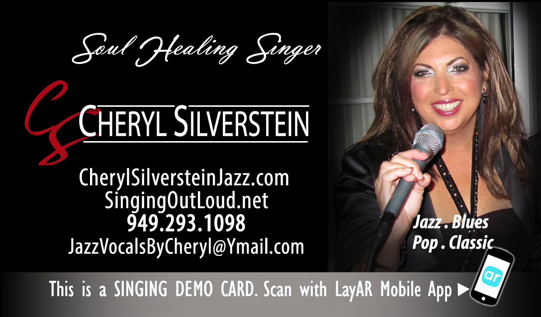 Cheryl Silverstein's singing biz cards