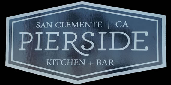 Pierside kitchen and bar sign